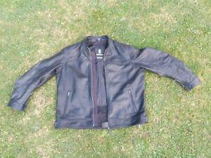 USED RICHA BLACK LEATHER MOTORCYCLE JACKET SIZE ERU54/UK44 EXCELLENT CONDITION!!