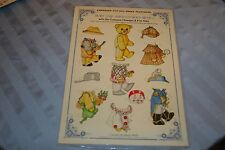 Burt The Adventurous Bear Embossed Cut Out W/Costumes & Hats Sheet Sealed