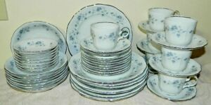 JOHANN HAVILAND BLUE GARLAND 47 PC DINNERWARE SET EXCELLENT PLATES BOWLS CUPS
