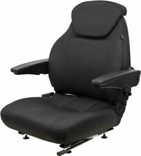 Black Cordura Fabric Universal Seat with Adjustable Mounting Slide Rails