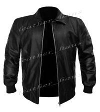 Real Leather Fonzie Happy Days Inspired Motorbike Bomber Biker Style Jacket 522
