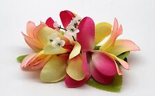 Hawaii Hair Clip Lei Party Luau Plumeria Flower Dance Beach Photo Peach Pink