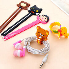 20 PCS Cute Animal Earphone Computer Cables Wrap Winder Wire Holder Organizer