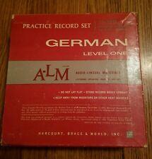 Audio Lingual Materials German Level 1 14 Record Set Harcourt RARE