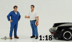 Mechaniker Service Chef Set  2 Figuren Set Tim John  Figur 1:18 American Diorama
