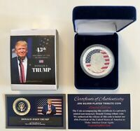 2016 President DONALD TRUMP...Liberty Tribute Coin...999 Silver Plated with COA