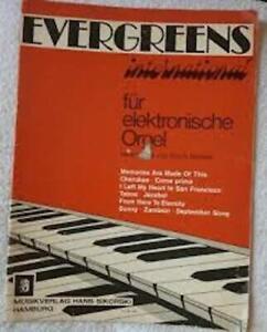 Evergreens international fur elektronische Orgel Sikorski