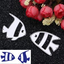 2pcs Fish Metal Cutting Dies DIY for Scrapbooking Album Paper Card Craft Decor