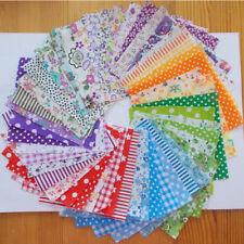 50Pcs 10x10cm Fabric Bundle Stash Cotton Patchwork Sewing Quilting Tissue Cloth