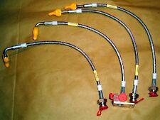 Ensemble de boyau de frein, acier inoxydable, s / s tressés, Mazda MX-5 Mk1 Eunos MX5, 1989-98
