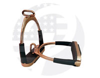 Rose Gold Offset Stirrups Horse Flexible Safety Riding Bendy Stirrups (4.75'')