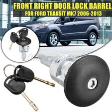 Front Right Door Lock Barrel With 2 Keys For Transit MK6 MK7 2006-2013 Driver Side Latch