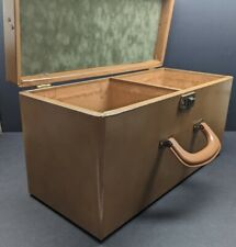ALAN INSULATED MFG CO  Double Wide 45 RPM Wood Record Carrying Case Tote Storage