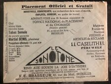 1936 Bruxelles Belgium Advertising Meter Cancel Cover Employment Agency