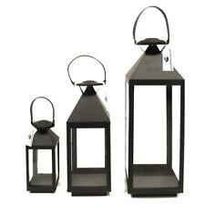 Lanterne in metallo 3 in 1 (set, colore NERO) - LA VOLPE SPARAGNO' - ART. A6