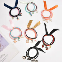 3Color Elastic Rubber Band Satin Ribbon Hair Band Rope Scrunchie Ponytail Holder