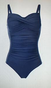 Badeanzug Bade einteiler blau    in XL - XXL - M   l /  38 40 42 44 46 48 marine