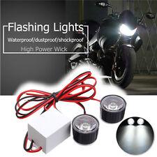 2Pcs 3W LED Eagle Eye Lamp Strobe Flash DRL Bicycle Motorcycle Car ATV Light