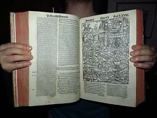 """P-INCUNABLE """"The Aeneid By Virgil"""" -207 AMAZING WOODCUTS- 1st Lyon ed Sacon 1517"""