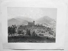 Lithographie - St Bertrand de Comminges - Luchon - Pyrénées - Circa 1850