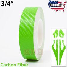 34 Vinyl Pinstriping Pin Stripe Tape Decal Sticker 19mm Carbon Fiber Green