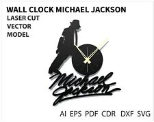 FILE DXF CDR EPS AI SVG for Laser Cut or CNC ROUTER Wall clock Michael Jackson