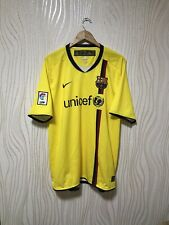 BARCELONA 2008 2009 AWAY FOOTBALL SOCCER SHIRT JERSEY CAMISETA NIKE sz XXL