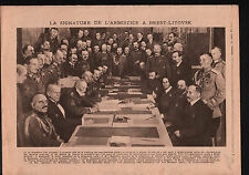 WWI Treaty of Brest-Litovsk /Disaster Church Halifax Yorkshire 1919 ILLUSTRATION