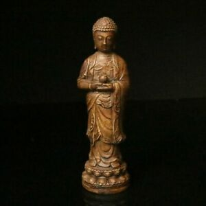 Chinese Natural Alabaster Jade Handcarved Buddha Statue