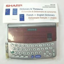 Sharp Electronic Dictionary & Thesaurus French ~ English New Sealed PWE-260