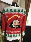 Tampa Bay Buccaneers Bucs Captain Morgan Ugly Christmas Sweater Mens Xl Mint!