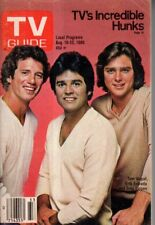 1980 TV Guide August 16 - Hunks - Tom Wopat, Erick Estrada, Greg Evigan; Hackett