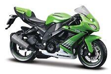 Motorrad 1:18 Kawasaki Ninja ZX-10 R grün mit weiß Maisto mit Wunschkennzeichen