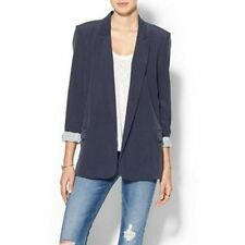 NWT Equipment Femme mitchell Blazer With Contrast Lining, Peacoat SIZE M