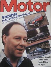 Motor magazine 14 February 1981 featuring Renault 18 Turbo road test, Panther