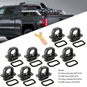 9PCS Tie Down Anchor Truck Bed Side Wall Anchors For Chevy Silverado 2007-2018
