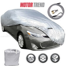 """Motor Trend All Season Outdoor Waterproof Car Cover Fits up to 228"""" W/ Lock"""