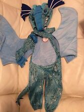 Pottery Barn Kids Blue Dragon Halloween Costume 3T NWT Fast Ship