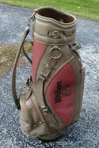 Vintage Limited Edition Official Wilson Golf NFL Pigskin Leather Cart Bag Cover