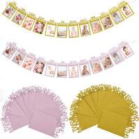 1-12 Mois Bannière Accessoires Photo Bébé 1er Anniversaire Cadeau De Décoration