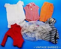 Barbie Doll Mixed Clothing Lot #7 Excellent Played With ~ Vintage 1960's