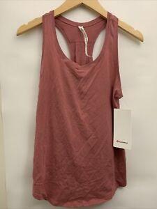 Lululemon Love Tank *Pleated NWT Sizes 2 4 6 8 CHRT Cherry Tint Pima Cotton