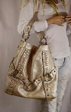 ISABELLA FIORE Quilted 'Carina' Large Metallic Hobo Handbag