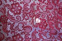 G14 Burgundy Guipure Lace bridal lace 120cm wide-Sold  by 1/2 yard