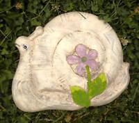 Snail plastic mold concrete plaster casting garden mould