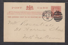 Victoria H&G 11 used 1890 1p Qv Postal Card