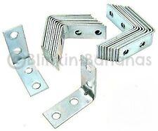 """20 a 2"""" Angoli Angolo Brace L Forma zinco piastra in metallo supporto da sostegno di giunzione 15"""