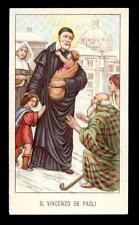 santino-holy card EGIM n.84 S.VINCENZO DE PAOLI