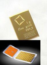 1 gram Valcambi Gold Bar - Valcambi Suisse CombiBar .9999 Fine (LOWEST BIN)
