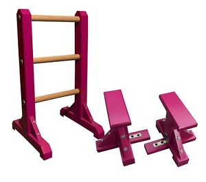 Duo Set – 3 Tier Ladder with Pair of Mini Pedestals (Rectangle Grip) handstand